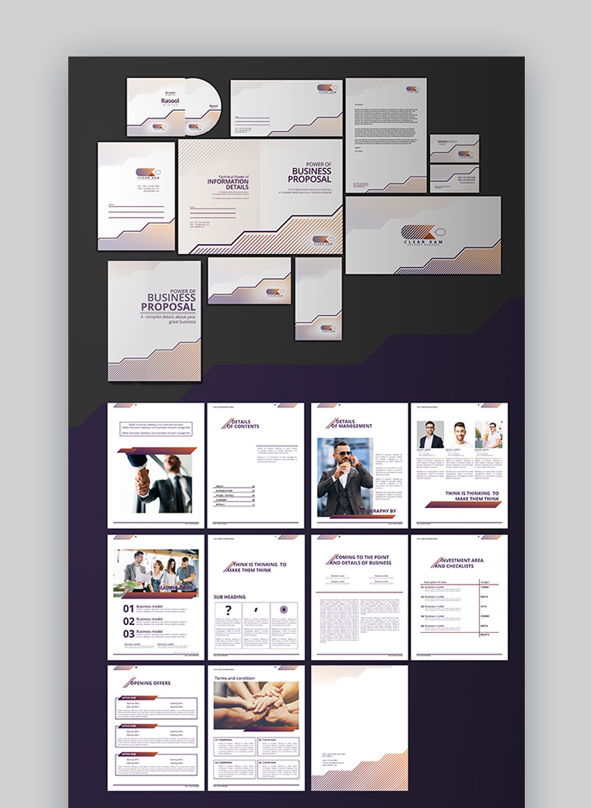 25 Top Graphic Design Branding Project Proposal Templates 2020