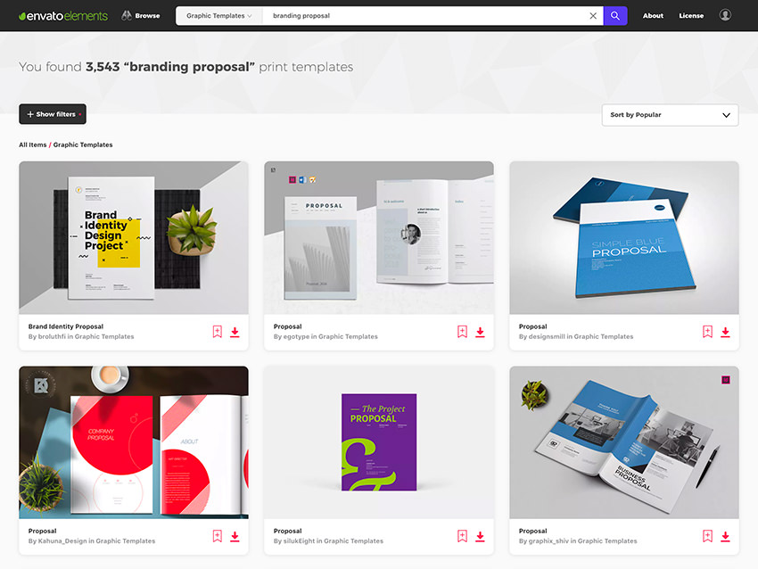 25 Top Graphic Design (Branding) Project Proposal Templates
