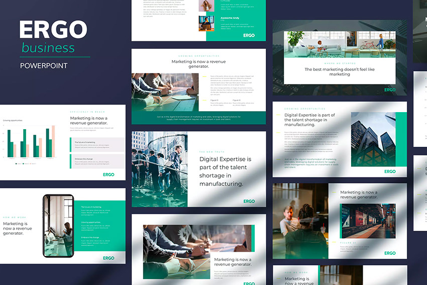 Ergo - Business Pitch Powerpoint Template