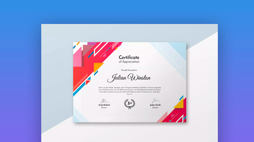 25 Best Certificate Design Templates Awards Gifts