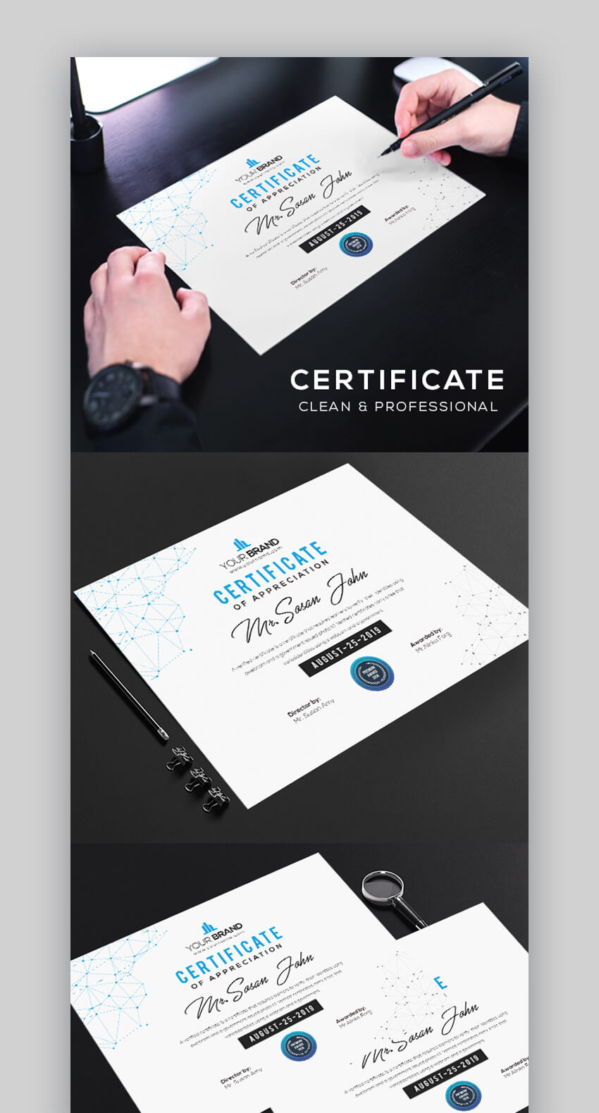 Clean  Professional Certificate