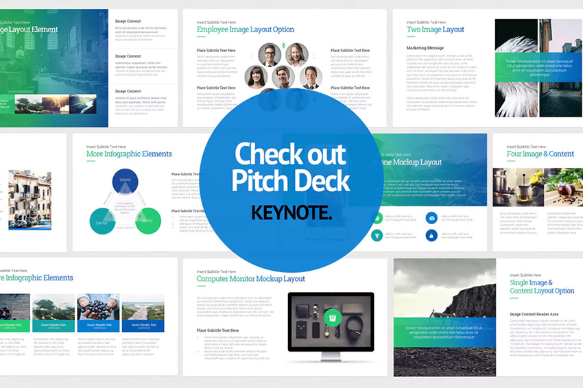 Pitch Deck Start Up Keynote Template