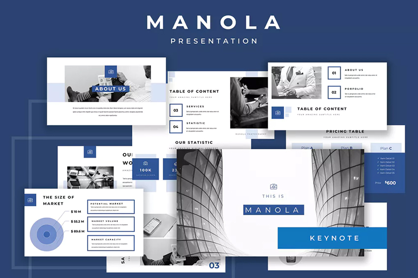 Manola Pitch Deck Keynote Presentation