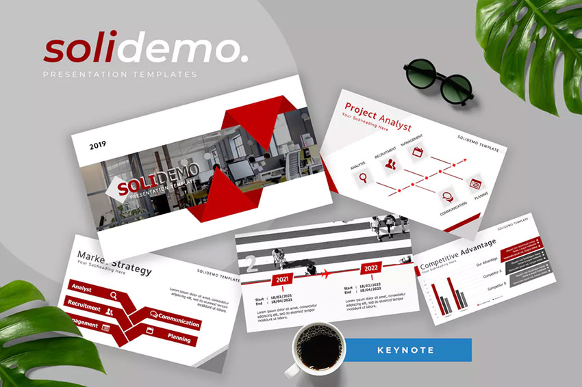 Solidemo - Pitch Deck Keynote Presentation