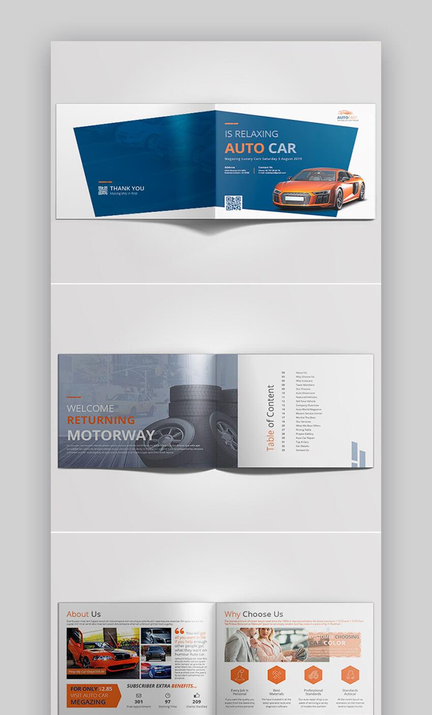 Landscape Auto Car Brochure