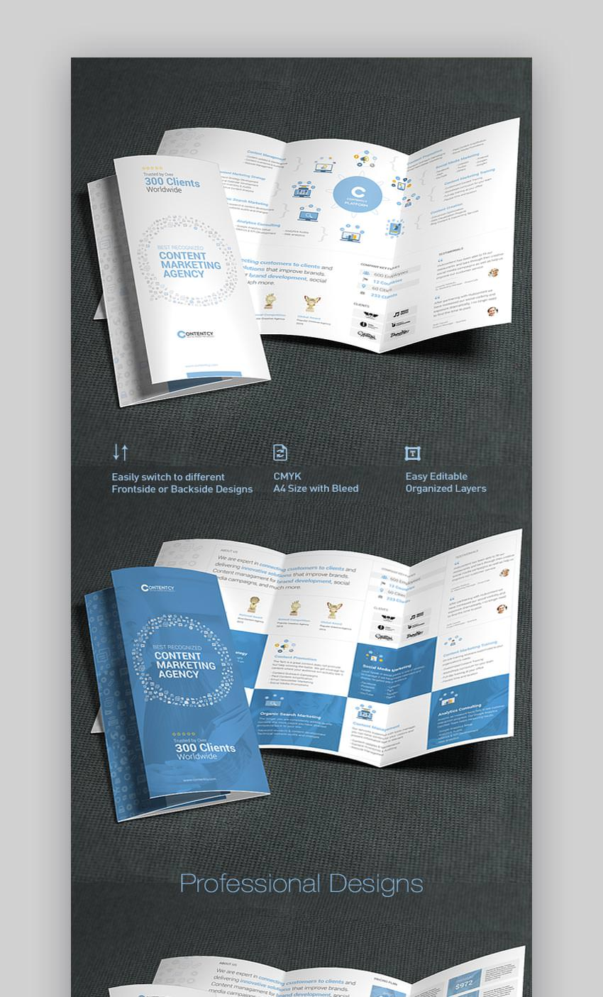 Content Marketing Trifold Brochure