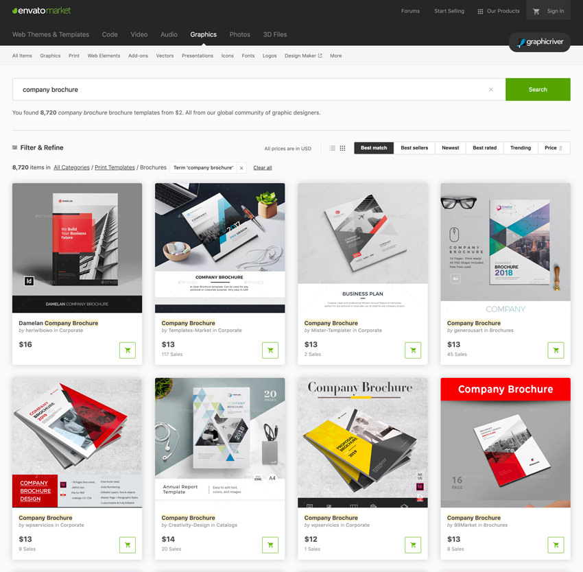 GraphicRiver templates