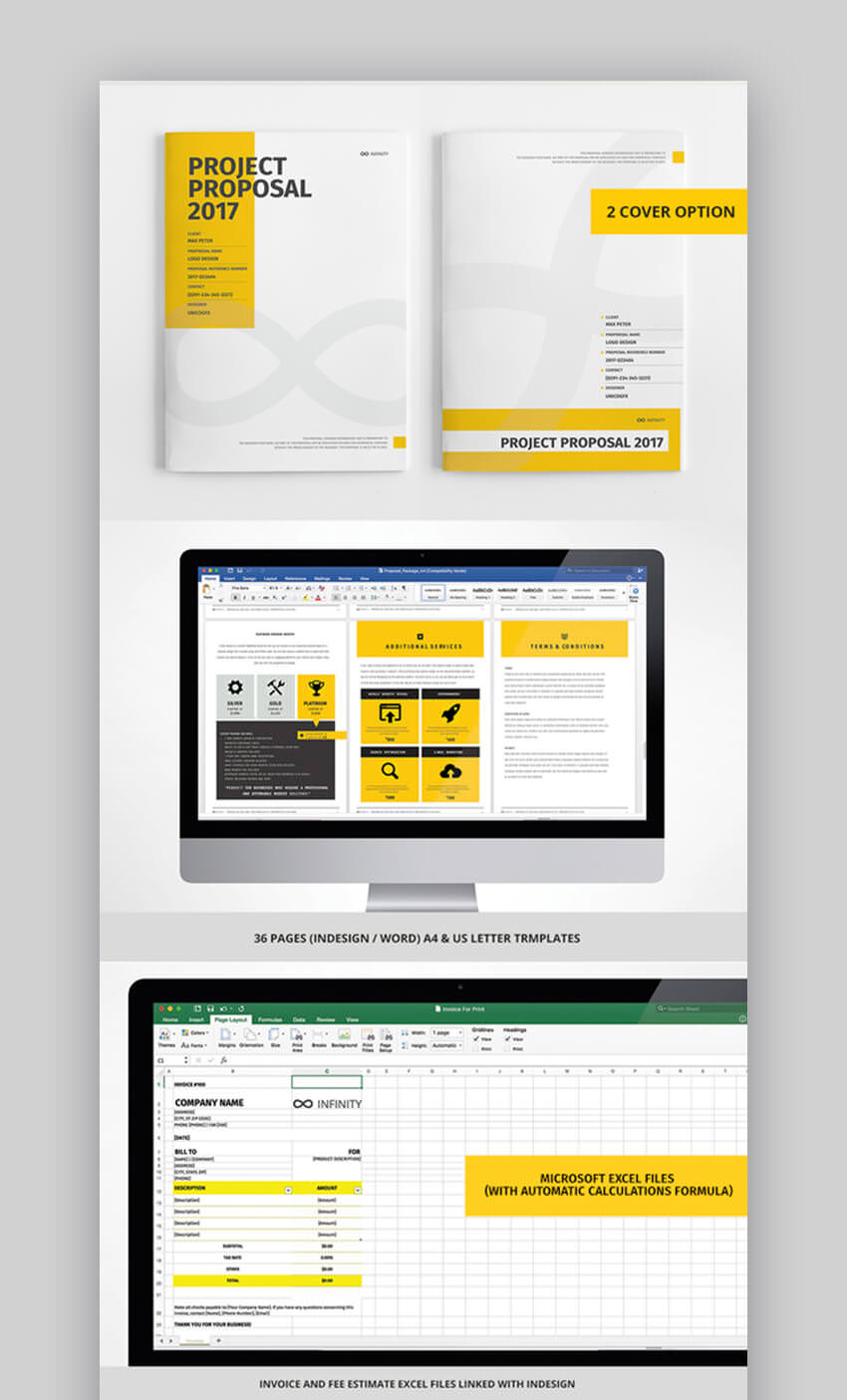 100 Pages Bundle Full Proposal Packages