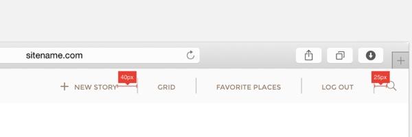 Desktop navigation buttons