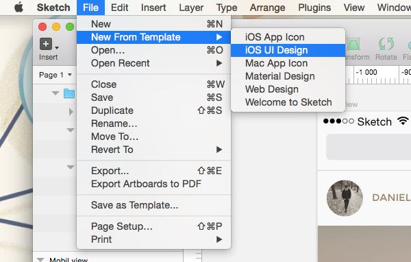 Sketch iOS UI Design Template