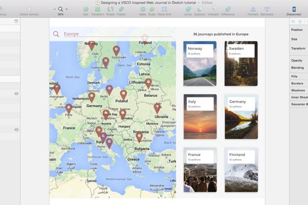 Map in desktop view