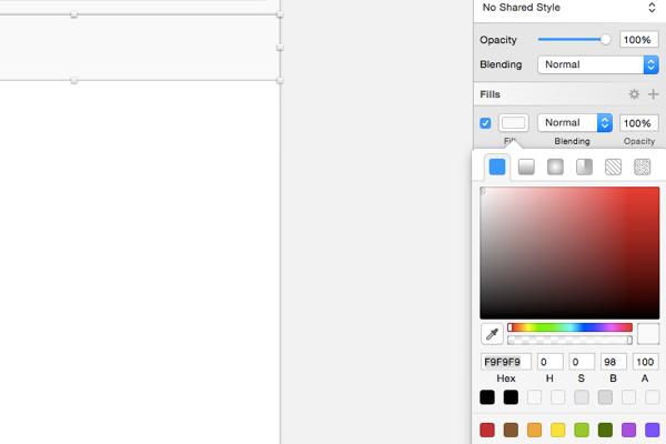 Navigation bar color fill