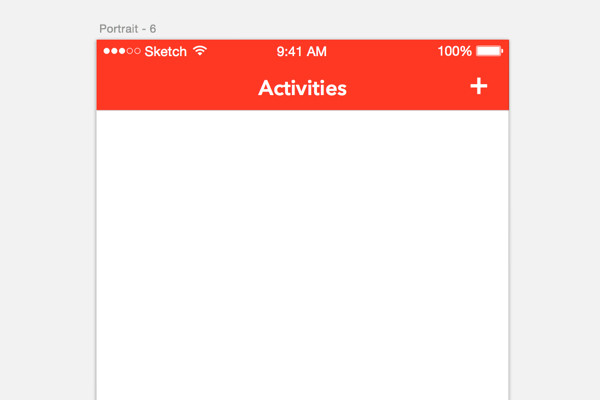 Creating the Activities screen