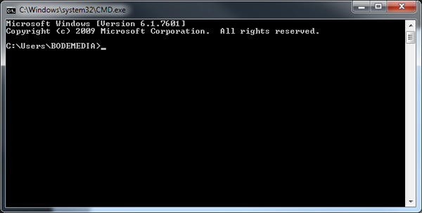 how to change directory cmd prompt