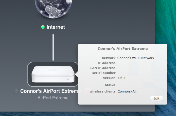 Airport utility explained before you click edit airport utility offers quick access to some basic details about the current airport setup cheapraybanclubmaster Images