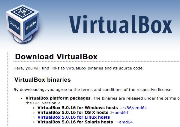 VirtualBox Download Page