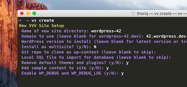 VV Prompt in Terminal Enable WP_DEBUG and WP_DEBUG_LOG