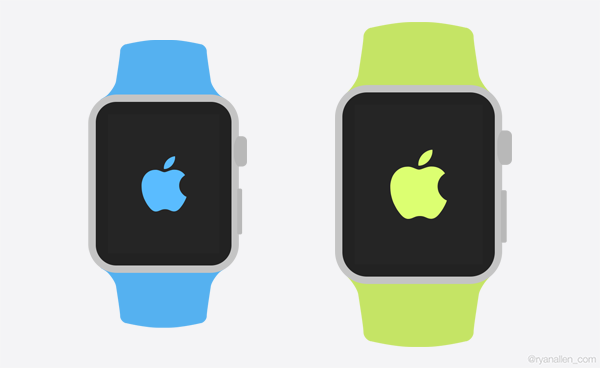 Apple Watch Flat UI Template