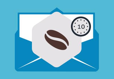 Coffee break email newsletter in mailchimp 400x277