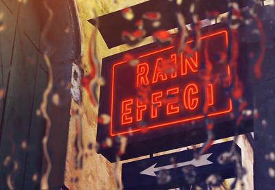 Rainy window effect 400x277
