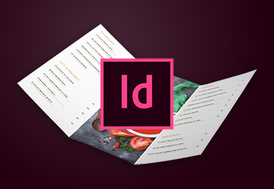 Restaurant menu design in indesign 400x277