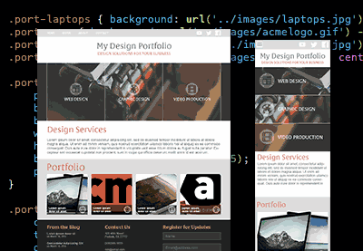 Preview for PSD to HTML: The Responsive Portfolio Build