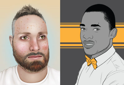 Preview for Mastering Male Vector Portraits
