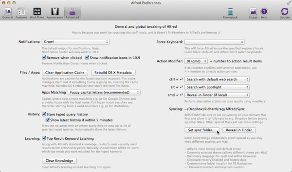 Setting Up Alfred Syncing