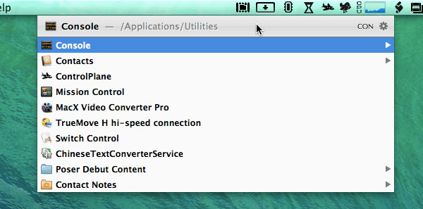 Opening Console from LaunchBar