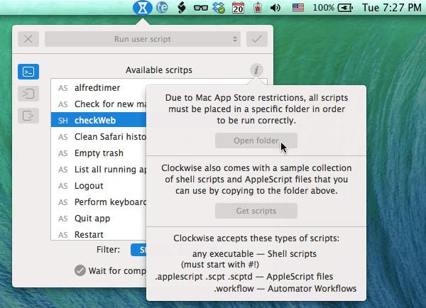 Creating Site Check Timer Opening Script Folder