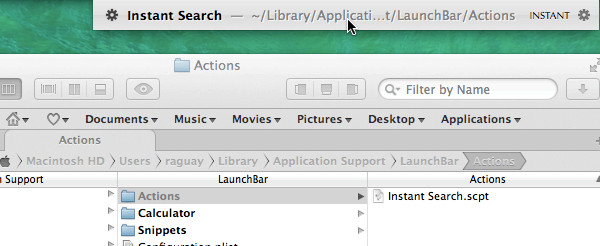 LaunchBar 5 AppleScript Actions
