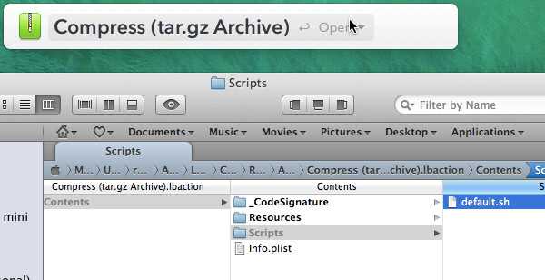 LaunchBar 6 Packaged Actions
