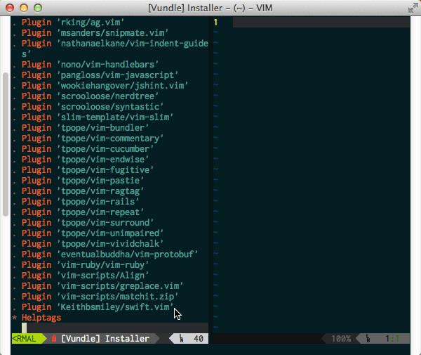 Vundler Installing SwiftVim