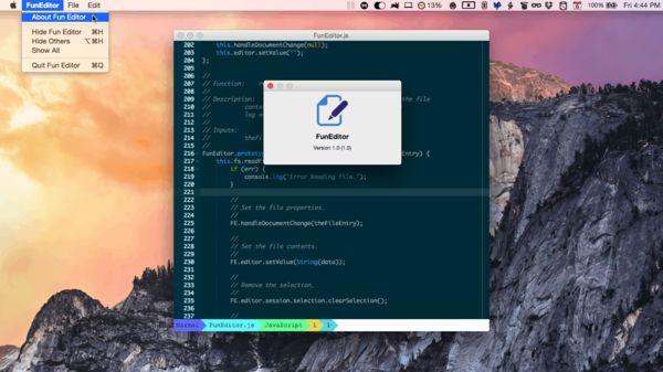 FunEditor on Mac OS X