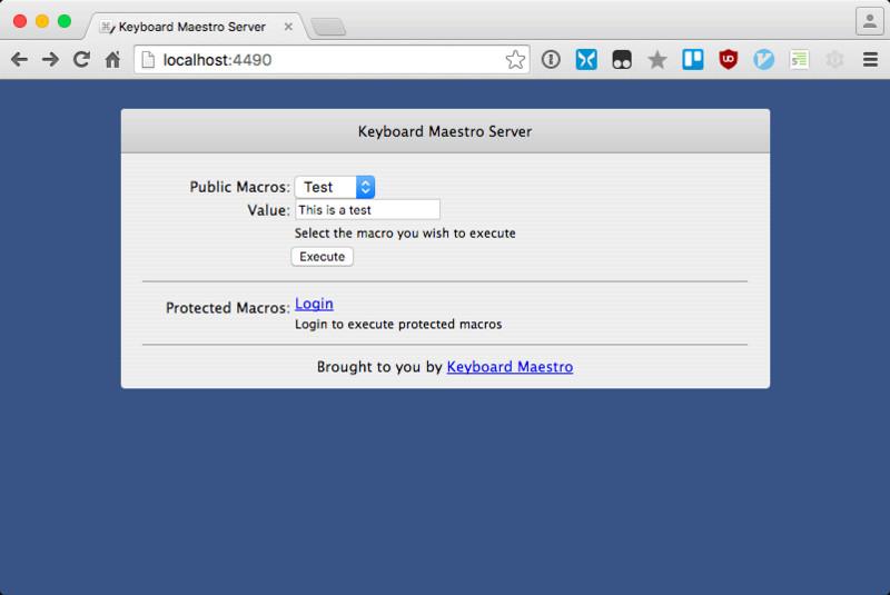 Keyboard Maestros Web Server