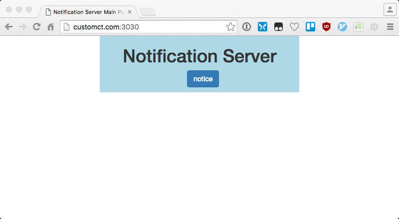 Notification Servers Main Page