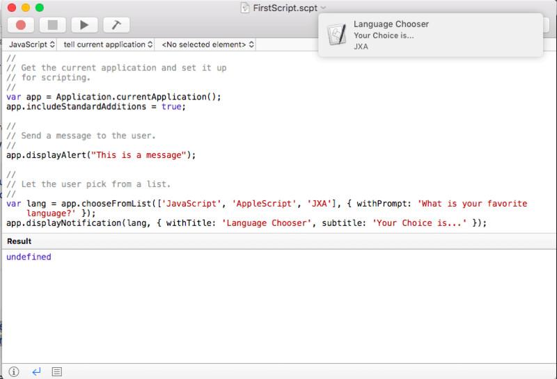 A Beginners Guide to JXA, JavaScript Application Scripting