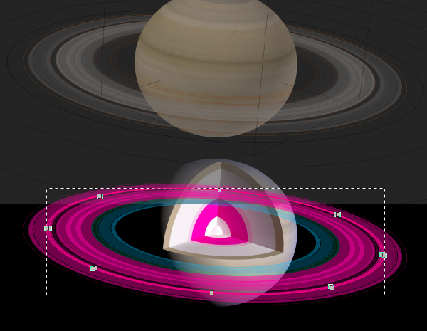 Rings as filled regions