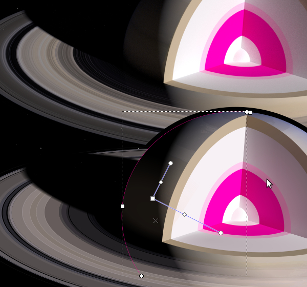Saturn bounce lighting