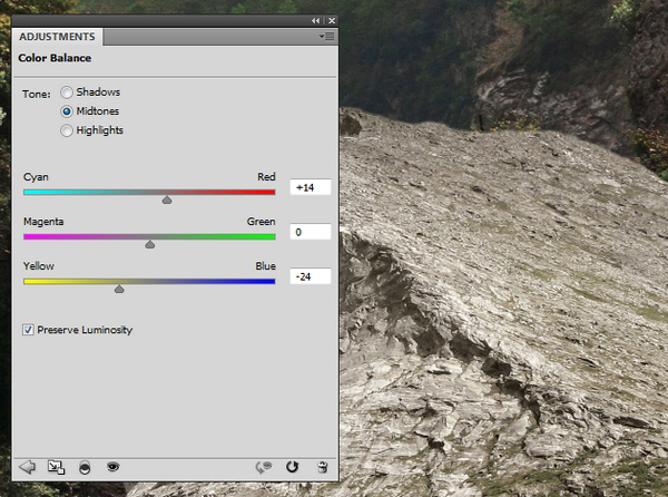 rock color balance