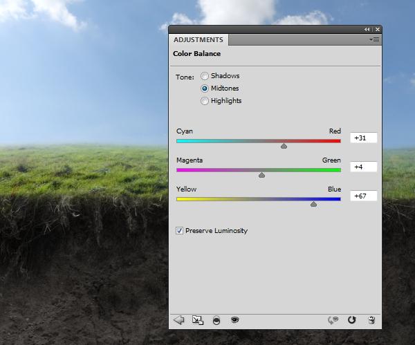grass color balance