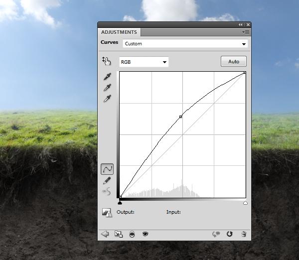 grass curves brighten