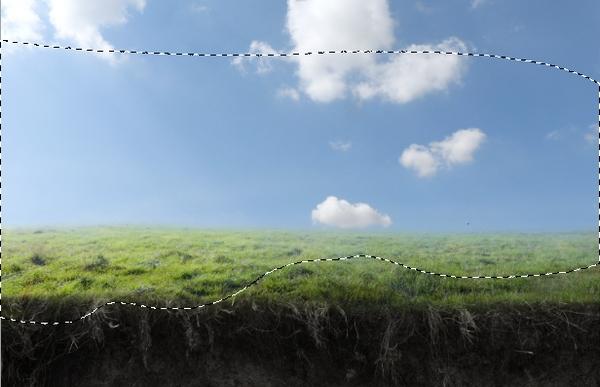 grass curves darken masking