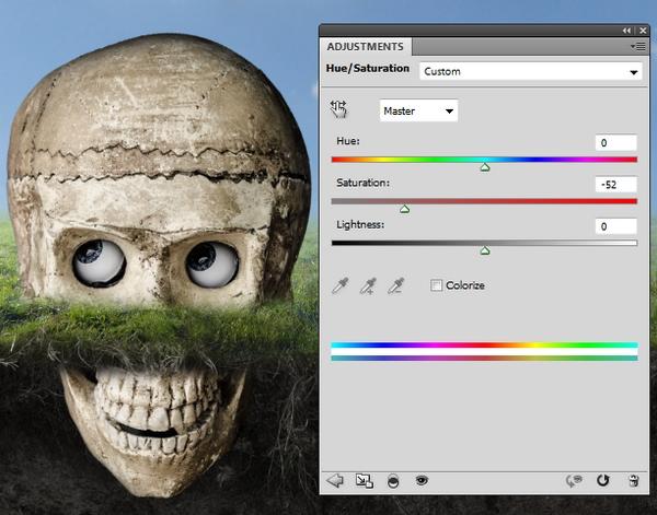 skull huesaturation