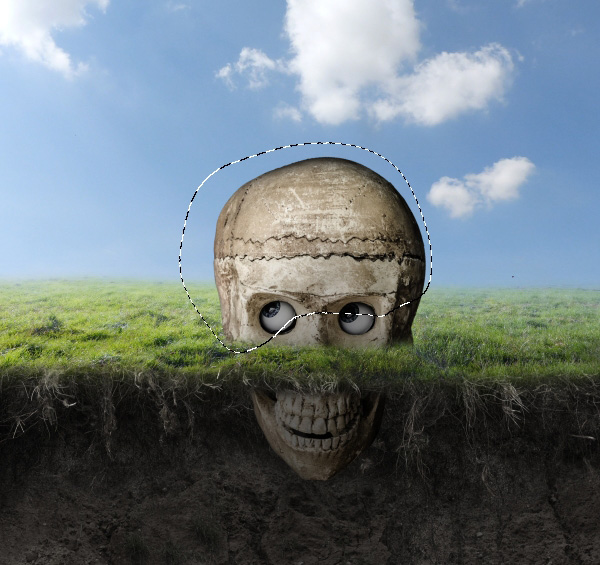 skull curves darken masking