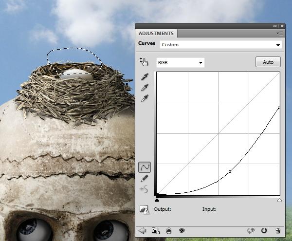 egg curves masking
