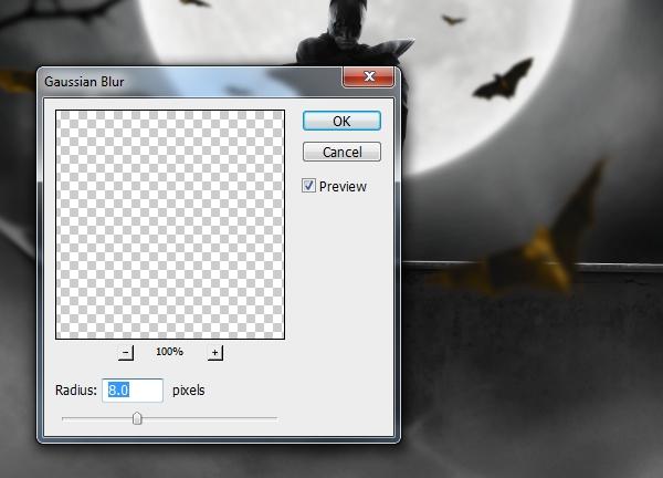 right bat gaussian blur 8 px