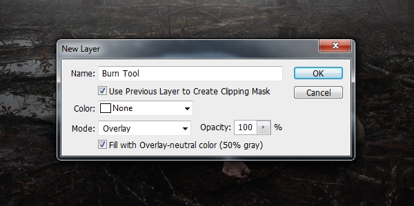 burn tool new layer