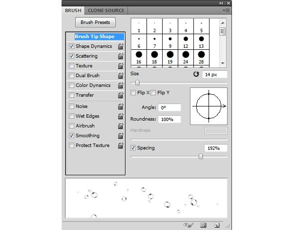bubble brush settings 1