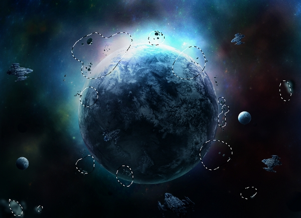 How to create a sci fi outer space scene with adobe photoshop for Outer space scene